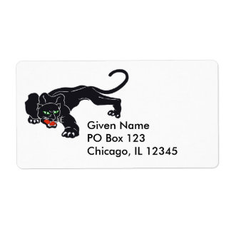 Black Panther Illustration Avery Label Shipping Label