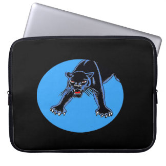 Black Panther in Blue Oval Computer Sleeve