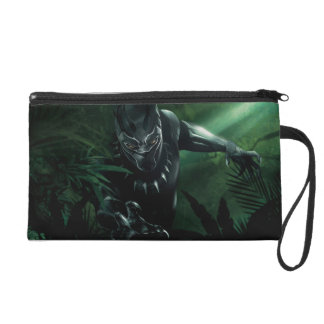 Black Panther   In The Jungle Wristlet