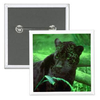 Black Panther Jaquar on Green Button