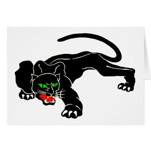 Black Panther - Large CAT Greeting Card
