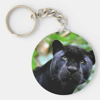 Black Panther Macro Basic Round Button Keychain