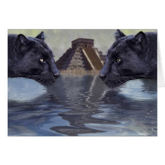 Black Panther Mexican Temple Collection Greeting Card