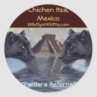 Black Panther Mexico Collection Round Stickers