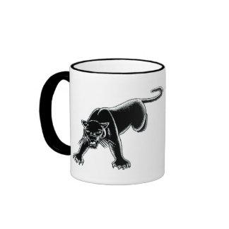 Black Panther Ringer Coffee Mug