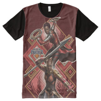 Black Panther | Nakia & Okoye Wakandan Graphic All-Over-Print T-Shirt
