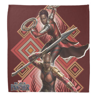 Black Panther | Nakia & Okoye Wakandan Graphic Bandana