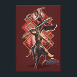 "Black Panther | Nakia &amp; Okoye Wakandan Graphic Canvas Print<br><div class=""desc"">Featuring Lupita Nyong&#39;o as Nakia,  and Danai Gurira as Okoye 