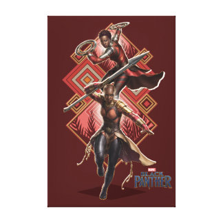 Black Panther | Nakia & Okoye Wakandan Graphic Canvas Print