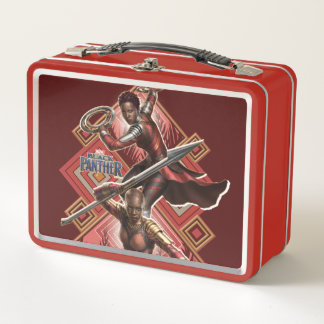 Black Panther | Nakia & Okoye Wakandan Graphic Metal Lunch Box
