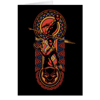 Black Panther | Okoye & Nakia Wakandan Panel Card