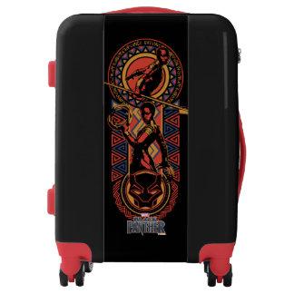 Black Panther | Okoye & Nakia Wakandan Panel Luggage