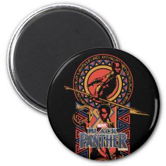 Black Panther | Okoye & Nakia Wakandan Panel Magnet
