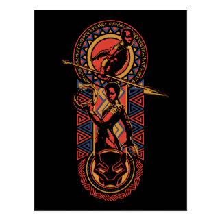 Black Panther | Okoye & Nakia Wakandan Panel Postcard