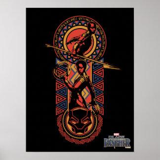 Black Panther | Okoye & Nakia Wakandan Panel Poster