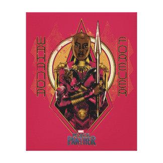 "Black Panther | Okoye ""Wakanda Forever"" Canvas Print"