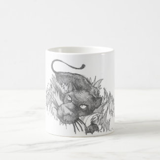 Black Panther on the Prowl Classic White Coffee Mug