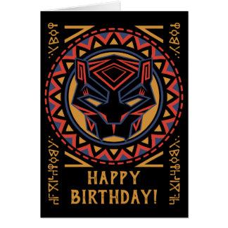 Black Panther | Panther Head Tribal Pattern Card