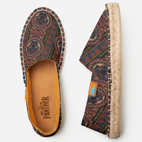 Black Panther  Panther Head Tribal Pattern Espadrilles