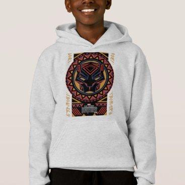 blackpanther Black Panther   Panther Head Tribal Pattern Hoodie