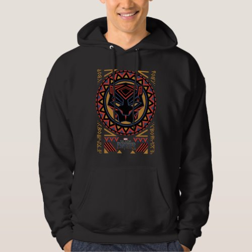 Black Panther  Panther Head Tribal Pattern Hoodie