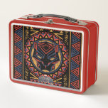 """Black Panther   Panther Head Tribal Pattern Metal Lunch Box<br><div class=""""desc"""">Check out this Wakandan tribal pattern design featuring a black panther head.</div>"""