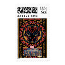 Black Panther | Panther Head Tribal Pattern Postage