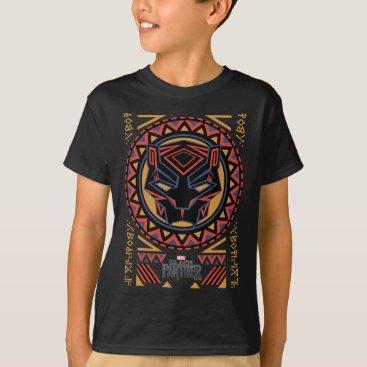 blackpanther Black Panther   Panther Head Tribal Pattern T-Shirt