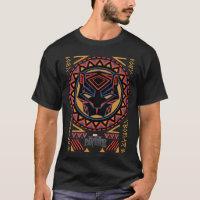 Black Panther   Panther Head Tribal Pattern