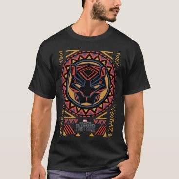 blackpanther Black Panther | Panther Head Tribal Pattern T-Shirt