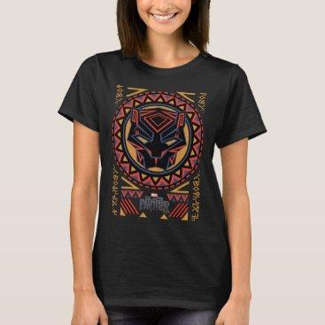 blackpanther Black Panther | Panther Head Tribal Pattern T-Shirt