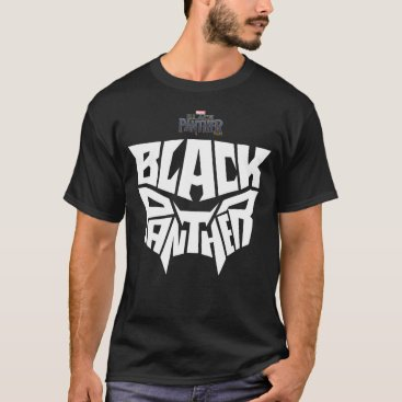 blackpanther Black Panther | Panther Head Typography Graphic T-Shirt