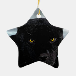 Black Panther Panthera Ceramic Ornament