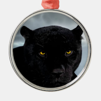 Black Panther Panthera Metal Ornament