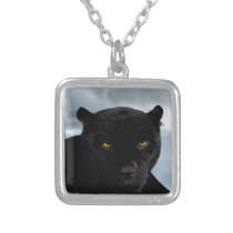 Black Panther Panthera Silver Plated Necklace