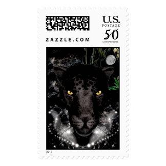 Black Panther Postage Stamp
