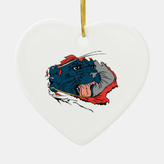 Black Panther Ripping Ceramic Ornament