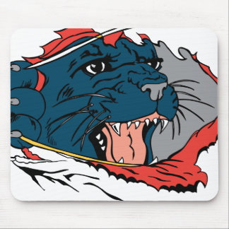 Black Panther Ripping Mouse Pad