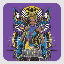 Black Panther | Shuri With Tribal Panther Square Sticker