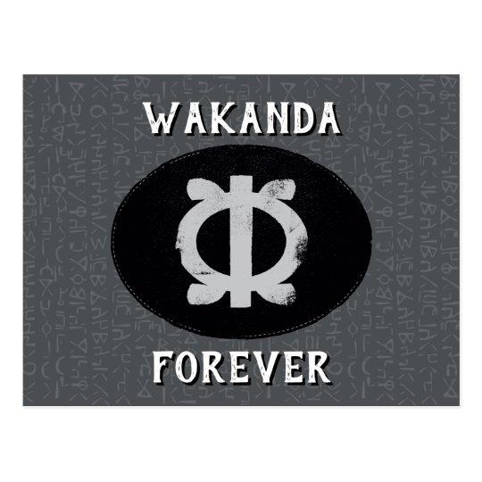 Black Panther Shuris Wawa Aba Adinkra Symbol Postcard Zazzle