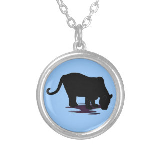 Black Panther Silver Plated Necklace