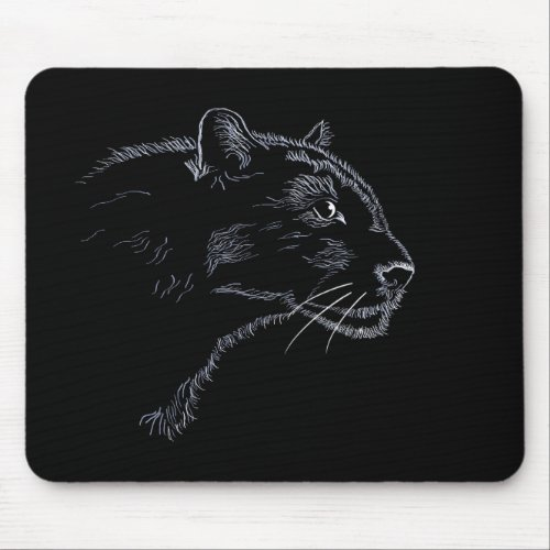 Black panther _ sketch mouse pad
