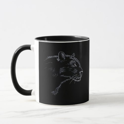 Black panther _ sketch mug