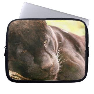 Black Panther Sleeping Electronics Bag Laptop Computer Sleeves