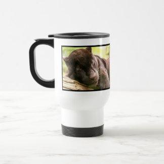 Black Panther Sleeping Plastic Travel Mug
