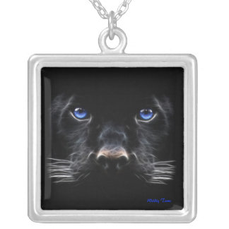 Black Panther Square Pendant Necklace