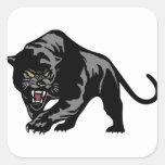 Black Panther Square Sticker