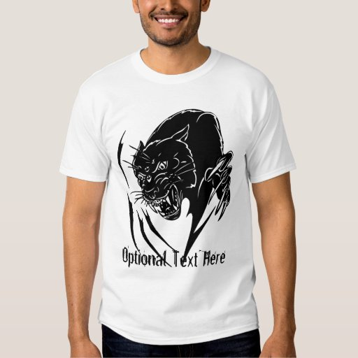 Black Panther T-shirt in Black and White