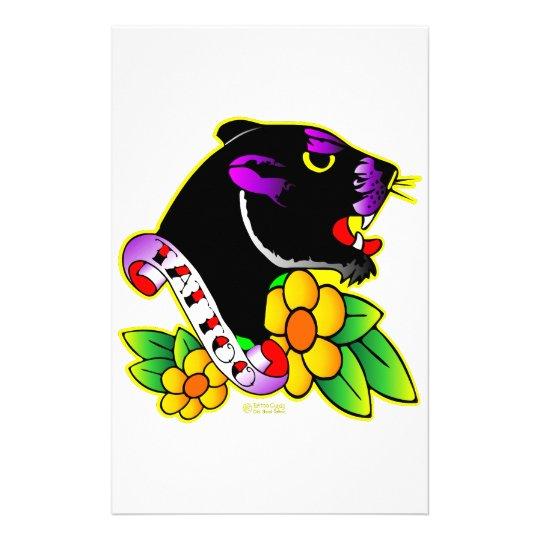 Black Panther Tattoo Stationery
