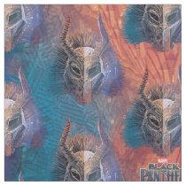 Black Panther | Tribal Mask Overlaid Art Fabric